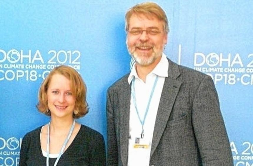 Julia Lück und Hartmut Wessler befragten Journalisten in Katar.