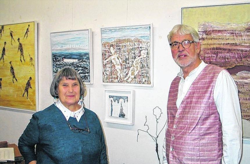 Bereits zum vierten Mal stellt die Künstlerin Gerdie Eschenbächer in der Galerie von Horst Nico ...