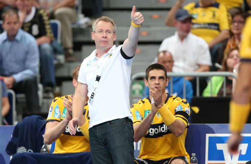 """""""Nach wie vor befinden wir uns im Neuaufbau"""", sagt Löwen-Trainer Gudmundsson, der mit der ..."""
