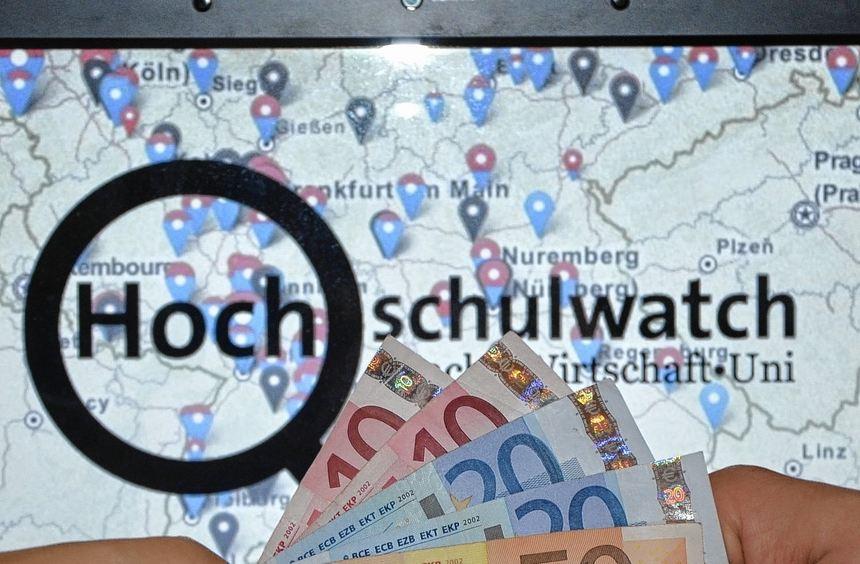Hochschulwatch.de möchte zeigen, wie viel Geld Unis aus der Wirtschaft bekommen.
