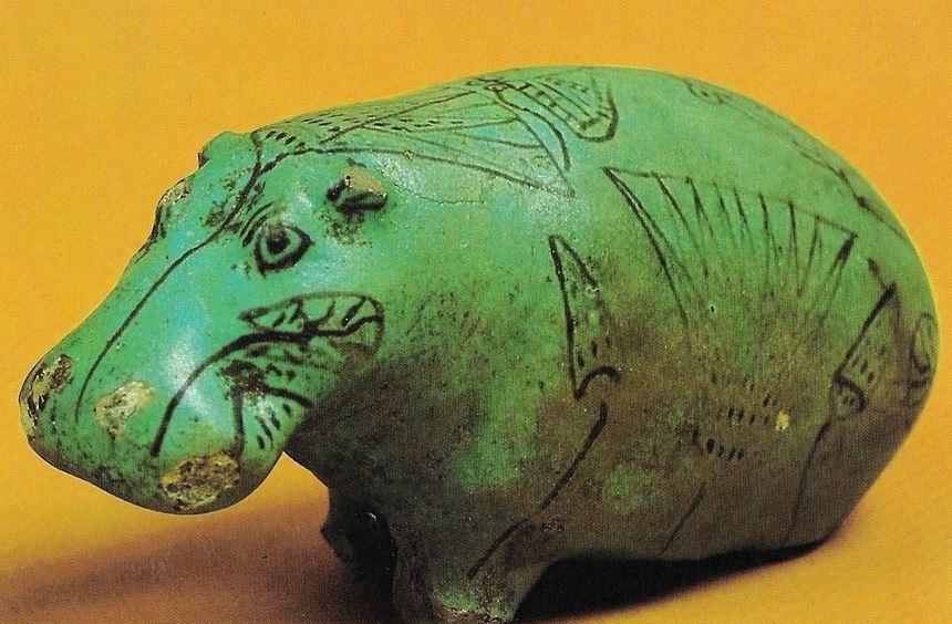 Leo Mildenberg sammelte Tierplastiken der Antike. Dieses Nilpferd aus Ägypten (etwa 2000 vor Chr.) ...