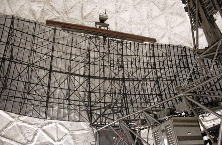 Der rund 96 Quadratmeter umfassende Antennenreflektor.