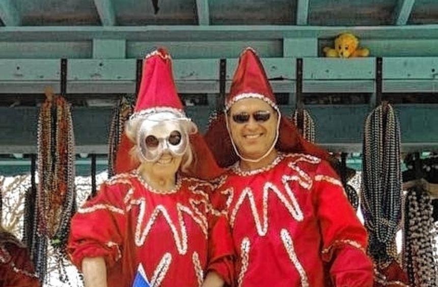 Sigi Adams und Sohn Bruce als Reilinger Botschafter in New Orleans.