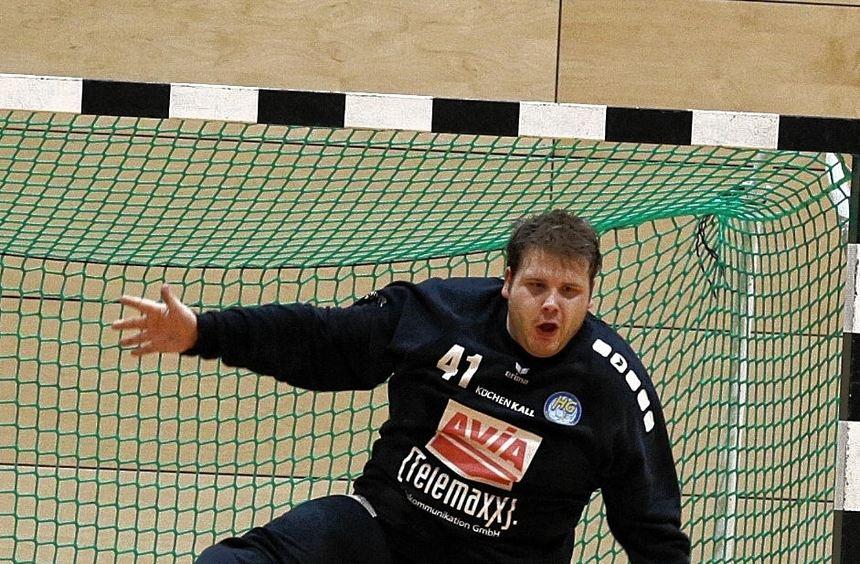 Hier spielte das Knie noch mit: Torwart Daniel Unser fällt aus, nachdem er sich das Innenband im ...