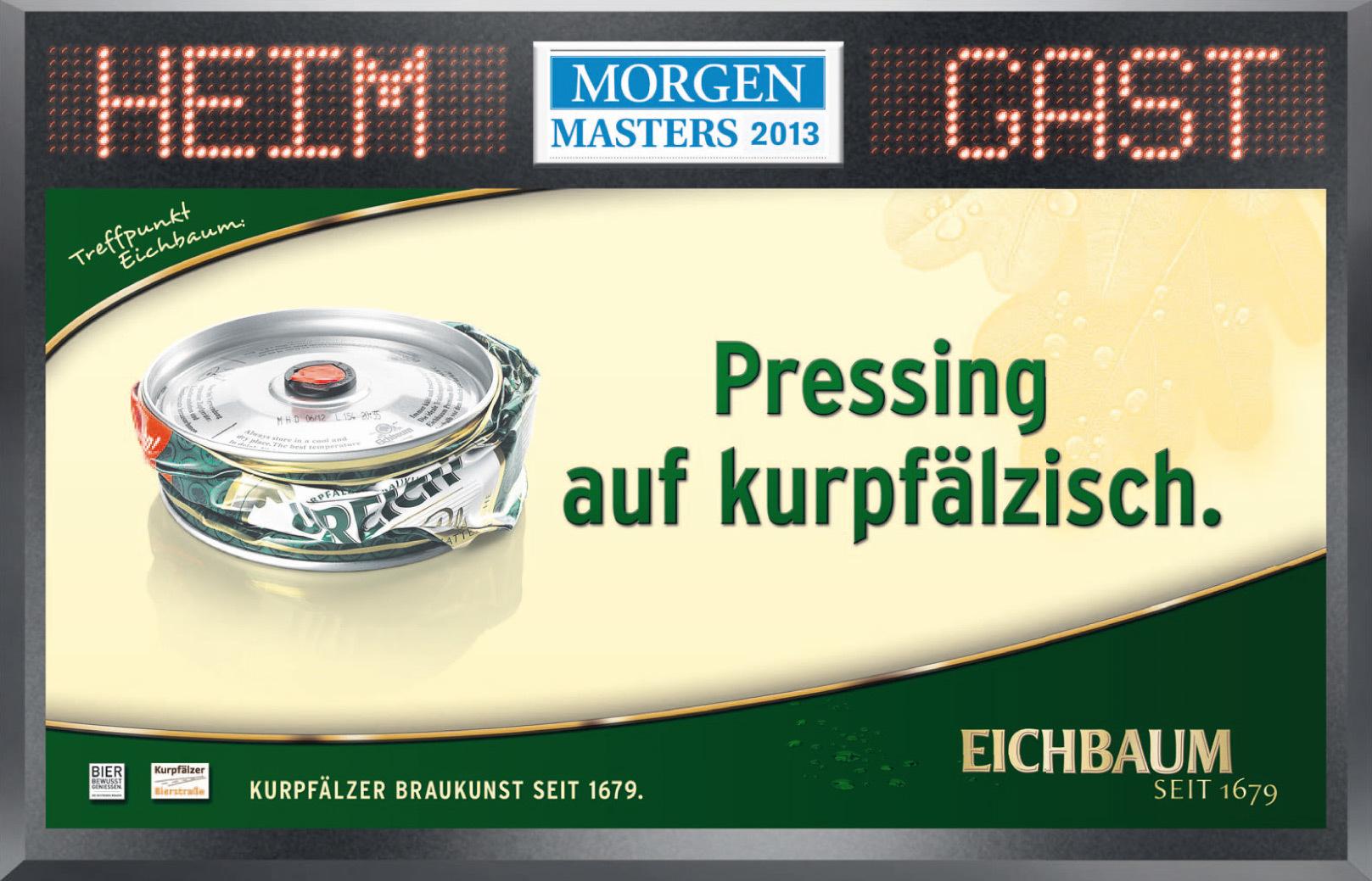 privatbrauerei eichbaum anzeige des monats anzeigen morgenweb. Black Bedroom Furniture Sets. Home Design Ideas