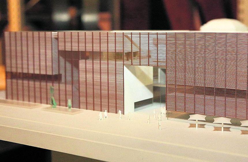Mit dem Entwurf des Hamburger Architekturbüros gmp für den Neubau der Kunsthalle können sich nur ...