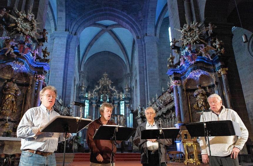 Begeisterte das Publikum im Wormser Dom mit seinem Gesang: Das Hilliard Ensemble trat im Rahmen von ...