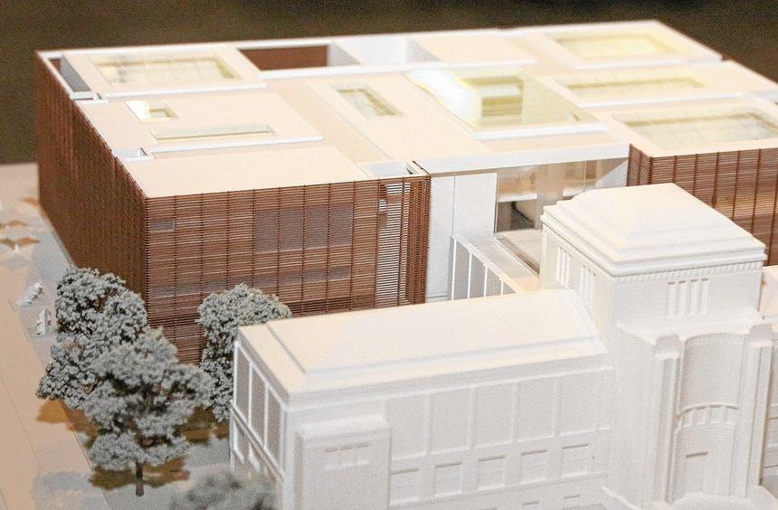 Ein Modell der neuen Kunsthalle.