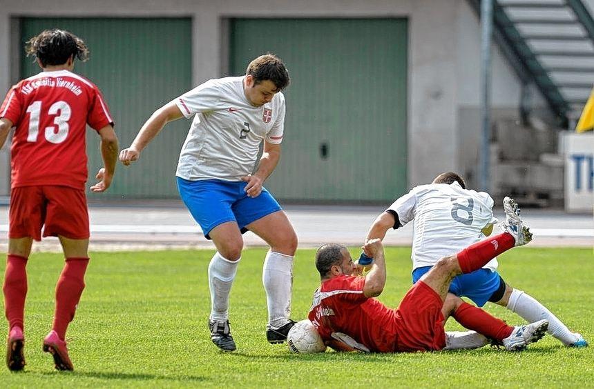 Die zweite Mannschaft des TSV Amicitia Viernheim ging beim FK Srbija Mannheim auch mit dem nötigen ...