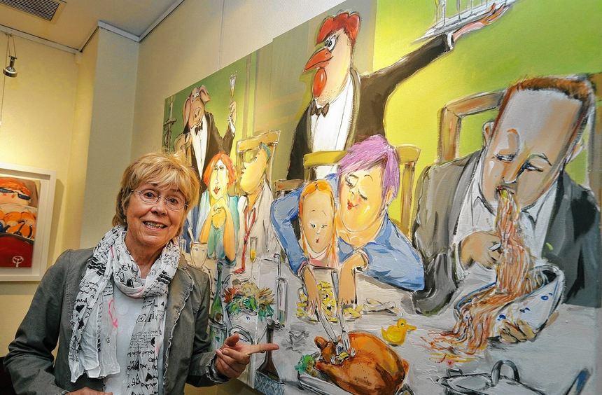 Kunst, gespickt mit viel rheinischem Humor: Gerda Staufenberg stellt unter dem augenzwinkernden ...