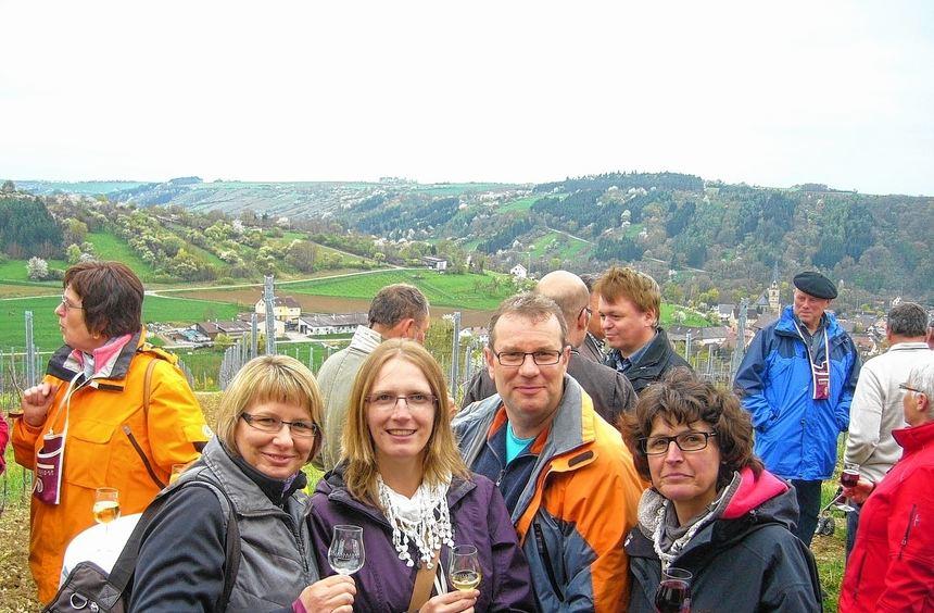 Rund 200 Teilnehmer zählte die geführte Weinerlebniswanderung der Weingärtner aus Laudenbach.
