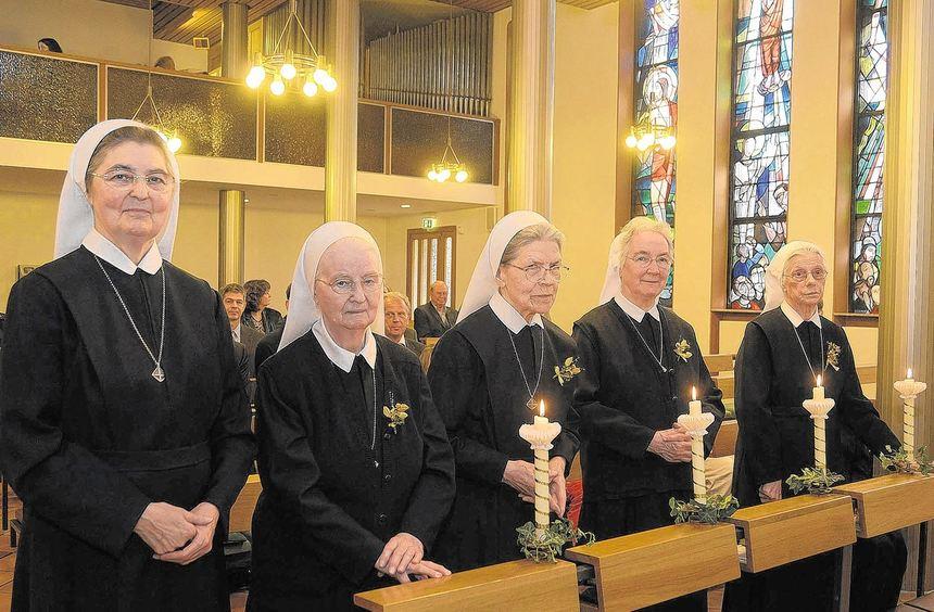 Generaloberin Brigitta Buchler würdigte am Samstag vier Ordensschwestern, die seit Jahrzehnten im ...