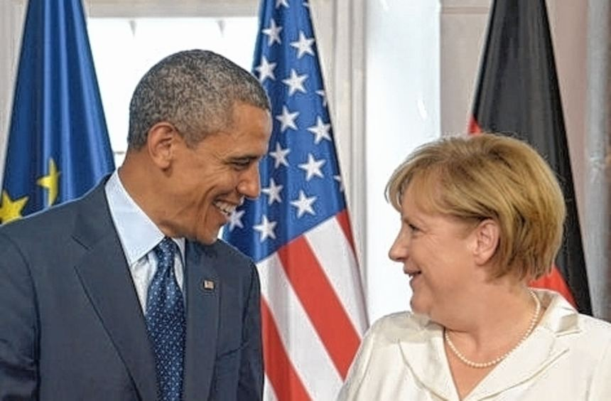 In Berlin noch eitel Sonnenschein: Merkel und US-Präsident Obama.