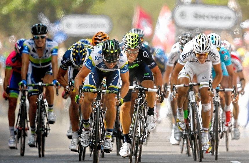 Simon Gerrans sicherte sich hauchdünn den Tagessieg bei der dritten Etappe der Tour von Ajaccio ...