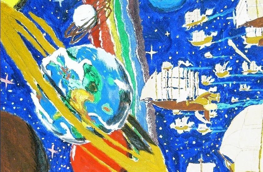 Dieses Bild hat Lukas Thelen gemalt. Der Autist ist Schüler an der Geschwister-Scholl-Schule in ...