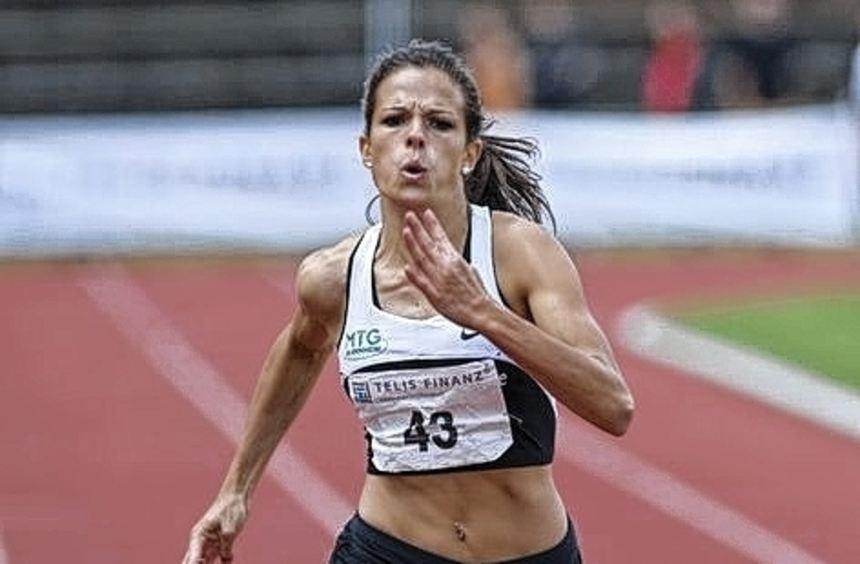 Nadine Gonska krönte ihre Leistung mit der 200-Meter-Bestzeit.