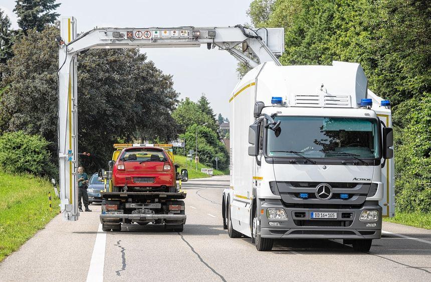 Neueste Technik kam bei der Durchsuchungsaktion im Weschnitztal zum Einsatz. Dieses mobile ...