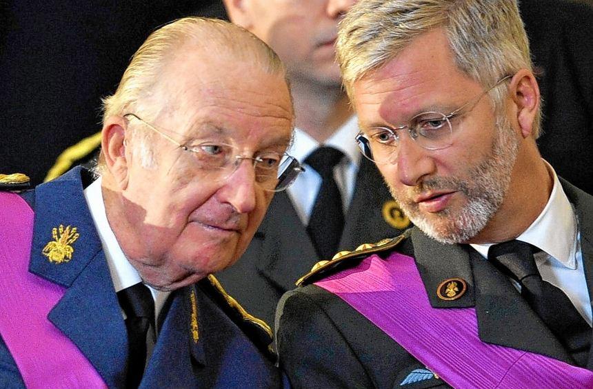 Der alte und der neue König: Am 21. Juli will der belgische Monarch Albert II. (links) zugunsten ...