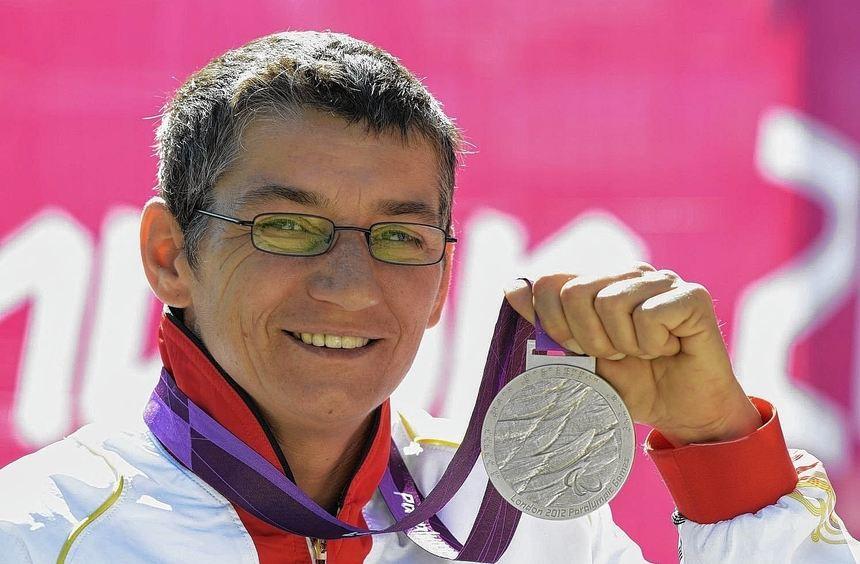 Olympischer Glanz: Mit paralympischen Silber errang Simone Briese-Baetke 2012 bei den Spielen in ...