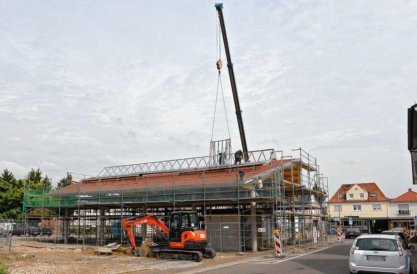 Bis auf wenige Kleinigkeiten fertig: Die neue Markthalle soll am Freitag, 6. September, eingeweiht ...