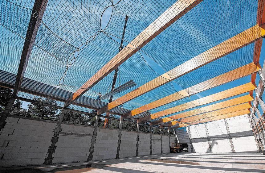 Der Rohbau steht: Die neue Turnhalle der Eichendorff-Schule in Kirschhausen wird voraussichtlich im ...