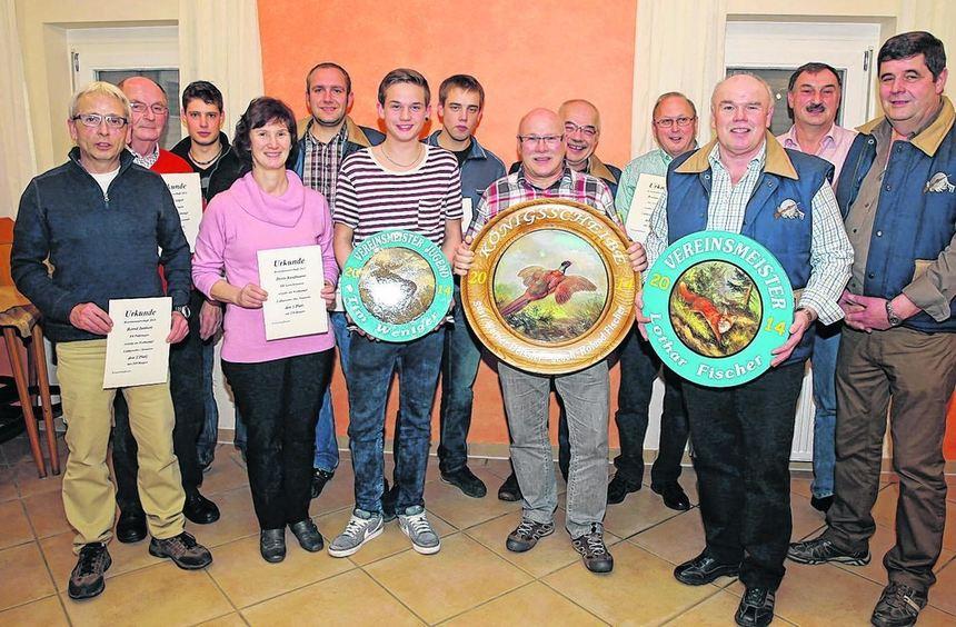 Die Kyffhäuser-Kameradschaft Gerichtstetten ehrte ihre Vereinsmeister und die besten Schützen der ...