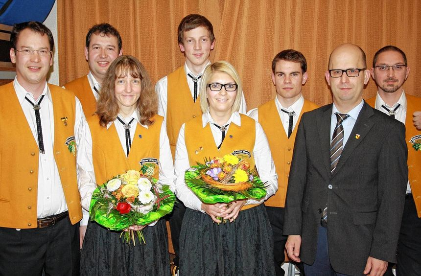 Für langjährige aktive Mitgliedschaft wurden bei der Jahreshauptversammlung der Winzerkapelle ...