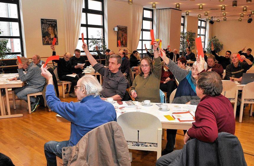 In vielen Punkten einer Meinung: Die Linke zeigte sich bei der Wahlversammlung im Bürgerhaus ...