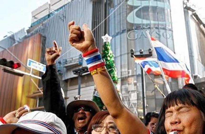 Die Opposition in Bangkok macht mobil gegen die Regierung.