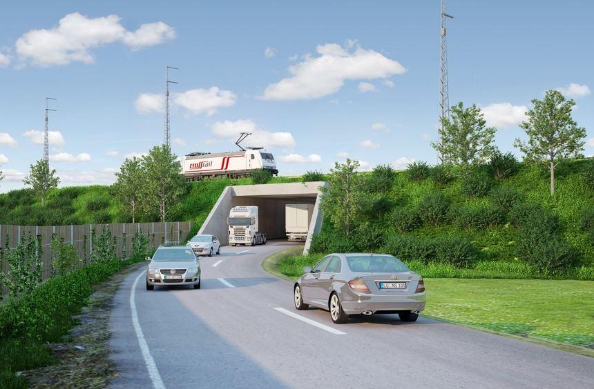 Variante einer Bahnunterführung von der Dudenstraße nach Käfertal.