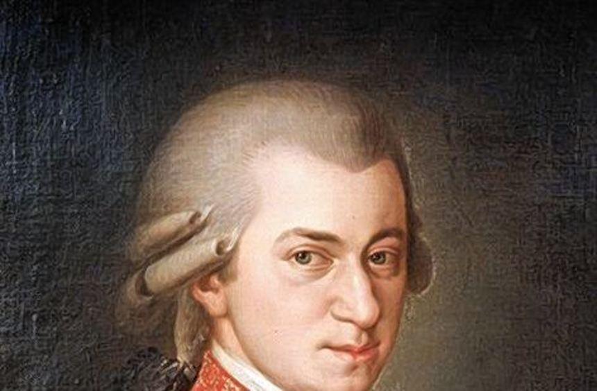 Mozart-Bild von B. Kraft.