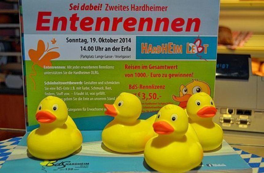 """""""Enten schwimmen für einen guten Zweck"""" heißt es in diesem Jahr zum zweiten Mal beim ..."""