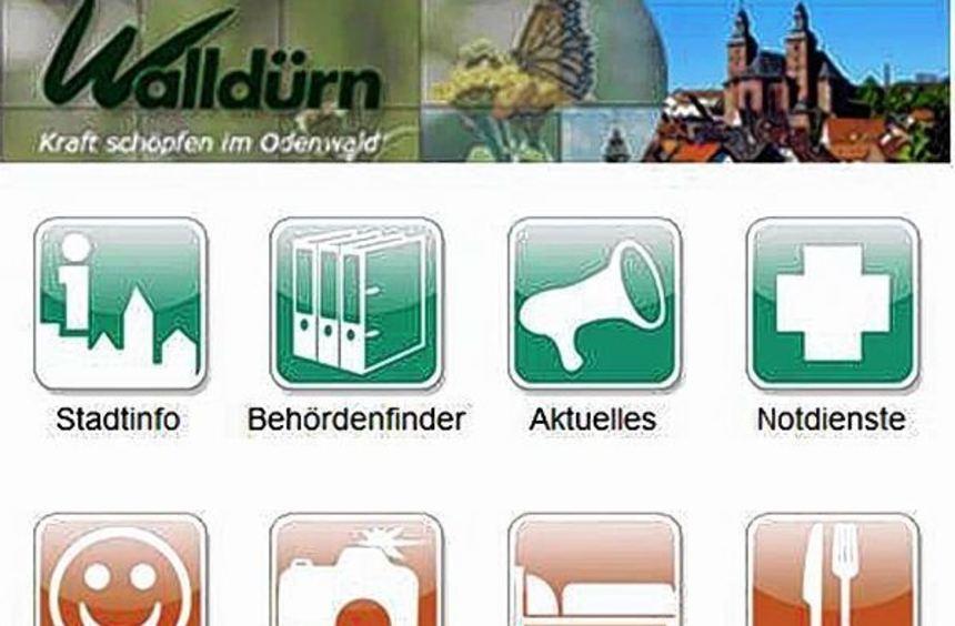 Die Walldürn-App informiert seit Juni über alles Wissenswerte rund um die Wallfahrtsstadt.