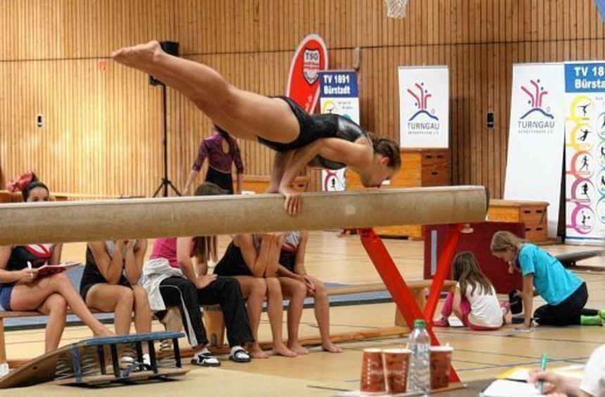 Die Qualifikation für die Hessischen Meisterschaften haben die Turnerinnen der TSG und des TV nicht ...