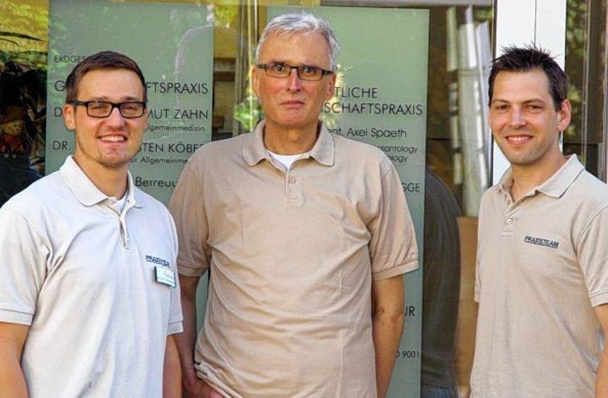 Unser Bild zeigt (von links) Dr. Thorsten Zahn, Dr. Helmut Zahn, Dr. Carsten Köber.