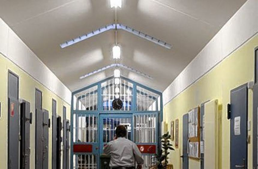 Blick in die Justizvollzugsanstalt Bruchsal.