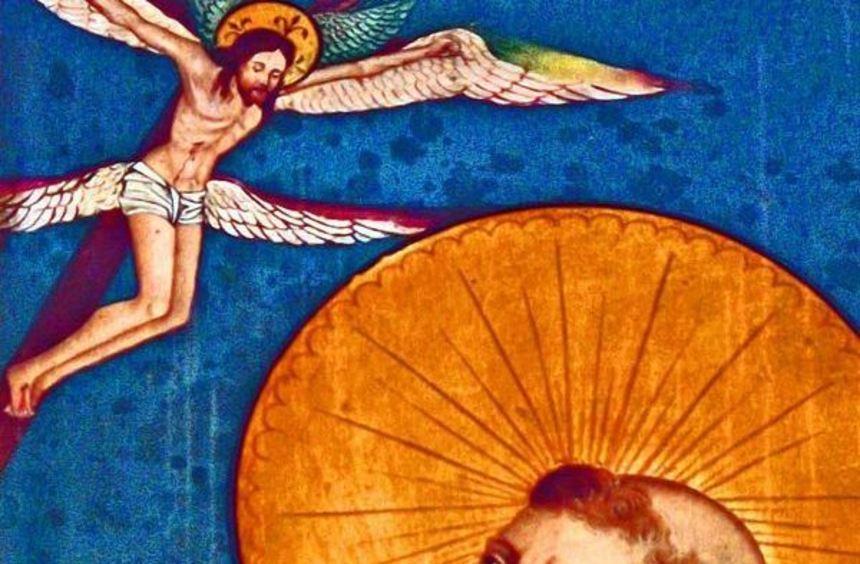 Franz von Assisi - unser Bild zeigt ein Motiv auf dem Flügelaltar der St. Michaelskirche in ...