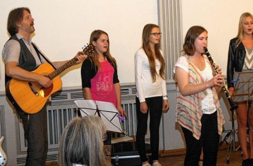 Mit musikalischen Beiträgen wurde die Feier zum Tag der Deutschen Einheit umrahmt. Auf dem Bild ...