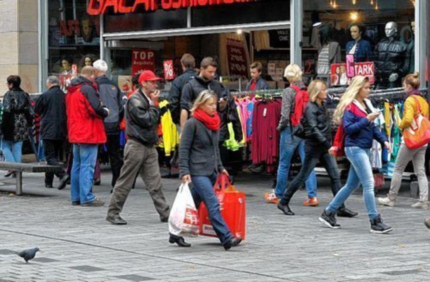 Ein Magnet auch für Umlandkunden: die City und ihre Läden und Lokale.