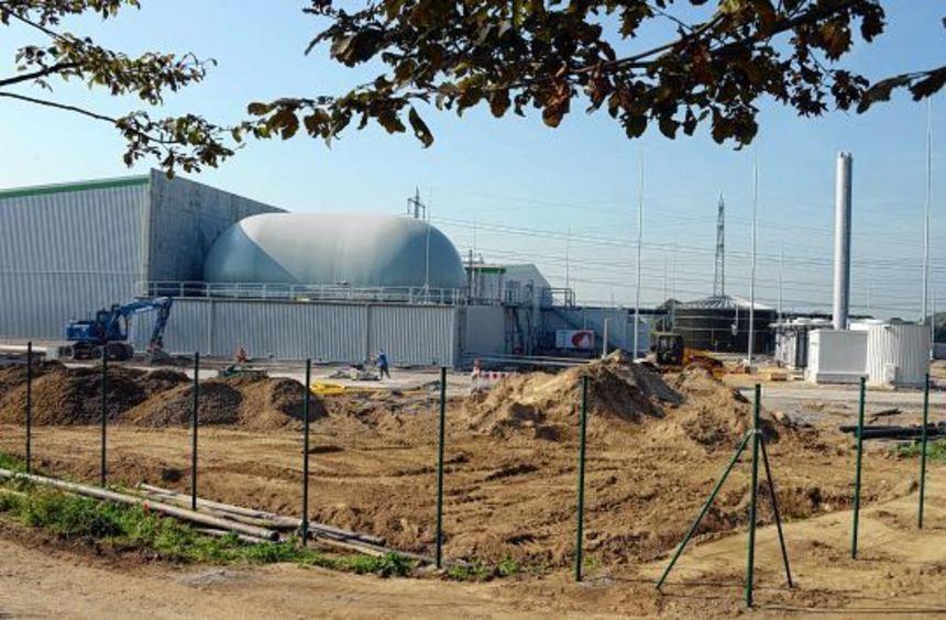 Nimmt bald den Betrieb auf: die neue Biogasanlage in Heppenheim.