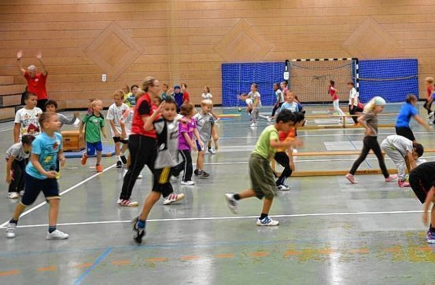 Der Handball-Aktionstag, den die SG Heddesheim mit den Grundschulen durchführte, begann mit einem ...