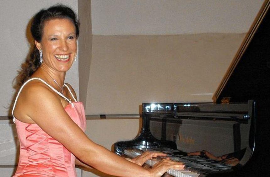 Begeisterte das Publikum mit ihrer Virtuosität: Die Pianistin Henriette Gärtner bei ihrem Konzert ...