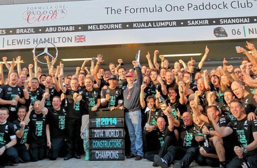 Kollektiver Jubel: Mercedes sicherte sich als erstes deutsches Team die ...