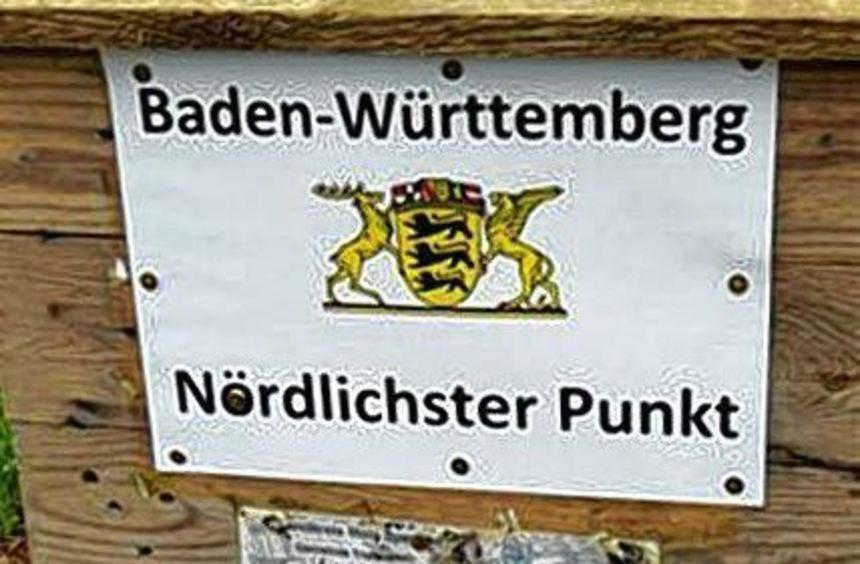 Der nördlichste Punkt in Baden-Württemberg befindet sich auf Dertinger Gemarkung.
