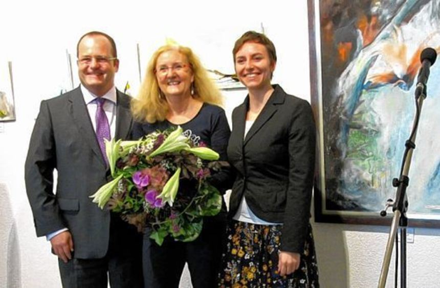 Von rechts: Stefanie Dörflinger, Andrea Huber, Dr. Gunther Wobser.