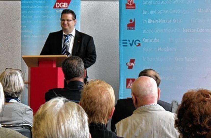 Jens Lehfeldt ist der neue Vorsitzende des DGB-Kreisverbandes Mannheim, zu dem auch Teile des ...