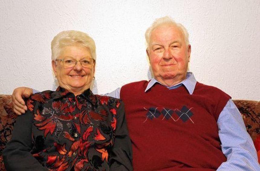 Gehen seit 60 Jahren durch dick und dünn: Helga und Gerhard Haffner.