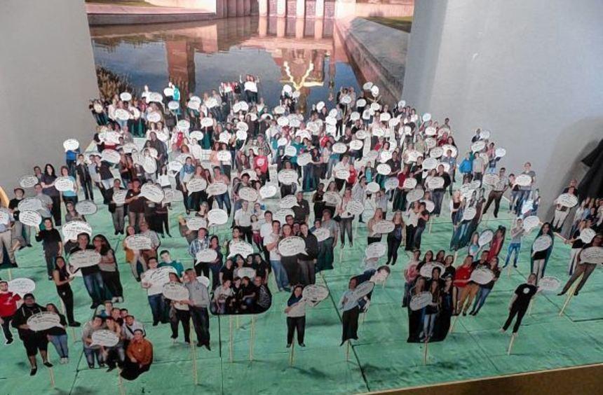 Auch der Bezirk Darmstadt war vertreten und stellte sich beim Jugendtag der Neuapostolischen Kirche ...