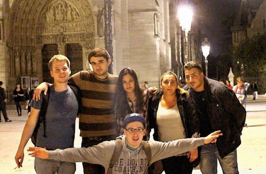 Viel Spaß hatte dieser Abiturkurs der Heppenheimer Abendschule bei einer Fahrt nach Paris.
