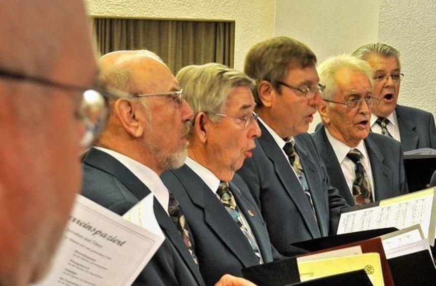 Der Männerchor des Zwingenberger Gesangvereins Sängerkranz.